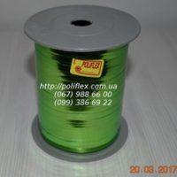 Завязка для цветов металлизированная зеленая